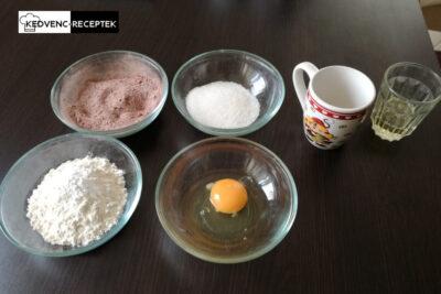 5 perces süti hozzávalók