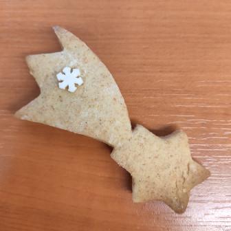 Hulló csillag alakú mézeskalács