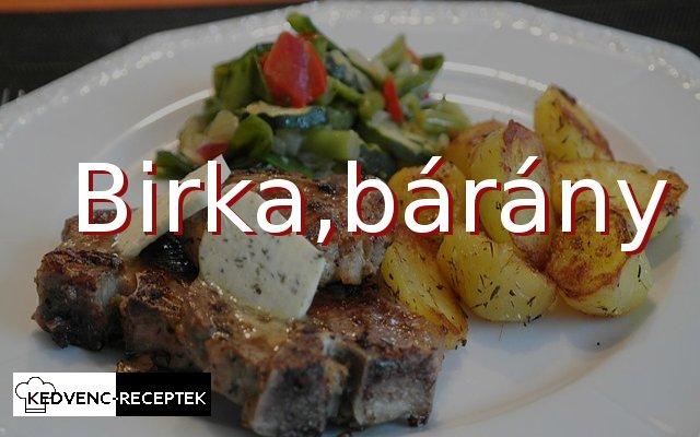 birka receptek, bárány receptek
