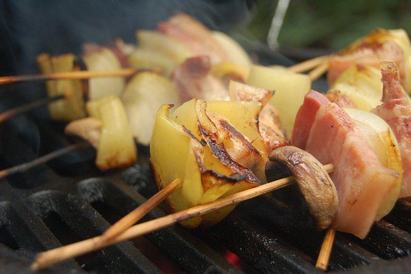 Csirkemell nyárson - rablóhús