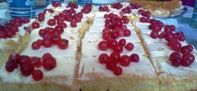 ribizlis sütemény