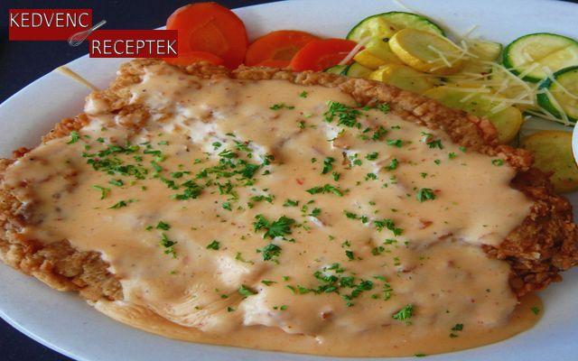 Sajttal sült csirke, sajtos csirke
