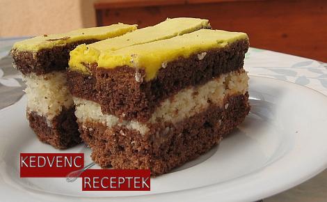 Sárga tetejű kókuszos sütemény | kedvenc-receptek.hu