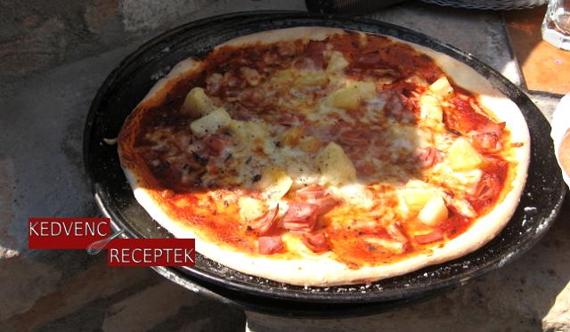 Pizza, sonkás pizza, pizza recept