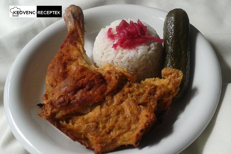 Töltött csirkecomb rizzsel, csemegeuborkával