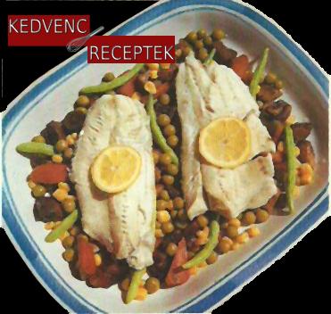 Párolt tengeri hal zöldségágyon | kedvenc-receptek.hu