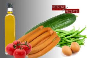 Virslis zöldbabsaláta | kedvenc-receptek.hu
