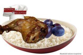 Csirkecomb szilvamártással receptje