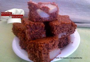 Egyszerű körtés sütemény receptje