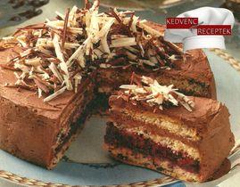 Meggyes csokitorta receptje