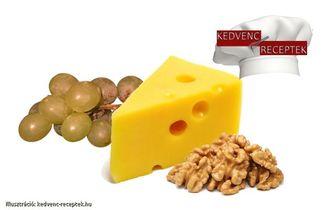 szőlő, sajt, dió, azaz szőlős, diós és sajtos recept