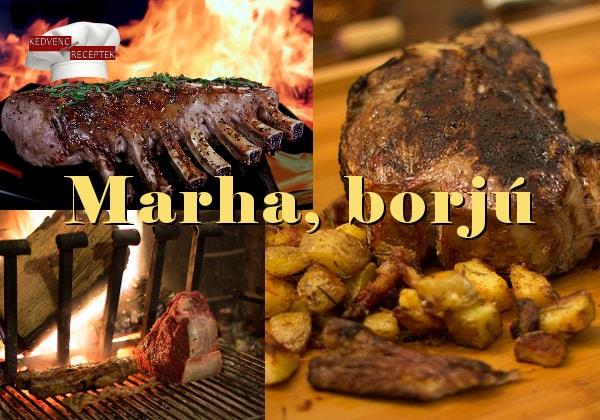 Marha, marhahús, borjú, borjúhús receptek