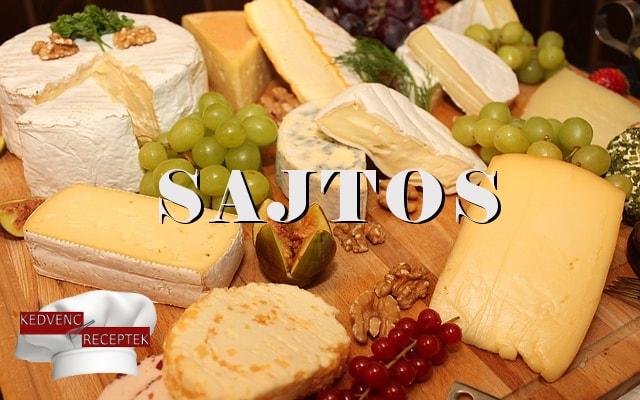 sajtos ételek, sajt alapanyag, sajtos receptek