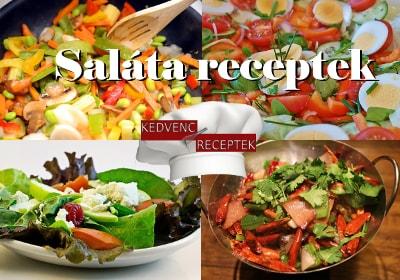 saláták, saláta receptek, saláta receptje