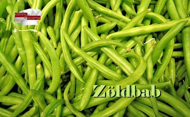 Zöldbab alapanyag, zöld színű zöldbab