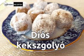 Diós kekszgolyó recept