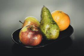 Alma, körte és narancs