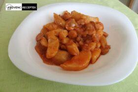 Virslivel készítjük a paprikás krumplit
