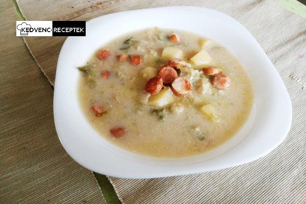 Frankfurti leves receptje rántással