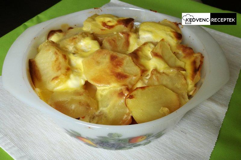 Rakott krumpli kolbásszal: Készen is van, kb.: 45 perc alatt (180 C fokon, légkeveréses sütőben)