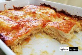 Sajtos tejfölös rakott csirkemell sütőben: kezd elfogyni a finom rakott étel!