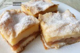 almás-pudingos süti leveles tésztában