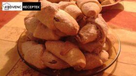 Gesztenyés kifli sütemény recept