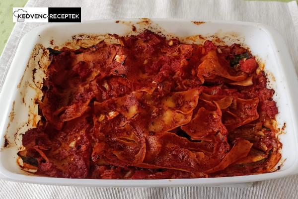 Elkészült a vegán lasagne