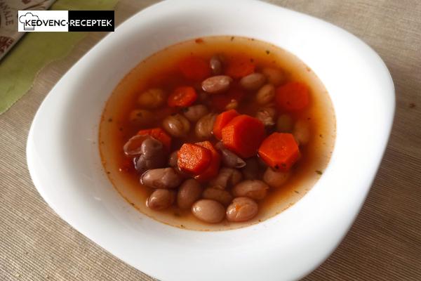 Zöldséges bableves hús nélkül