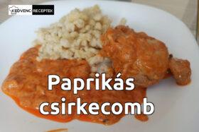 Paprikás csirkecomb nokedlivel