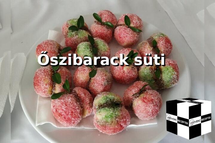 Őszibarack süti recept