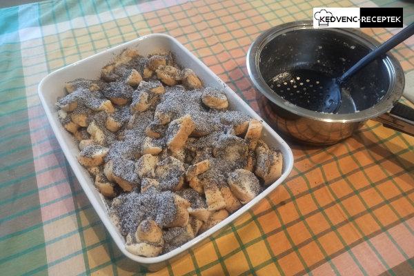 Sütésre kész a vegán mákos guba